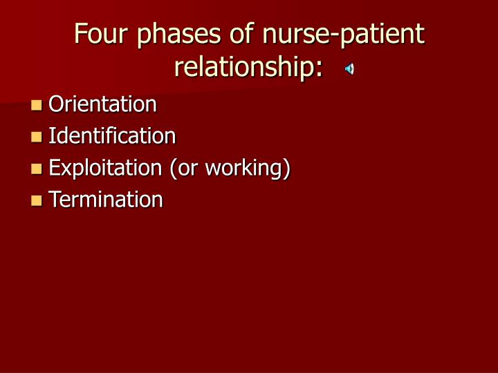 Four phases of nurse-patient relationship: