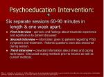 psychoeducation intervention