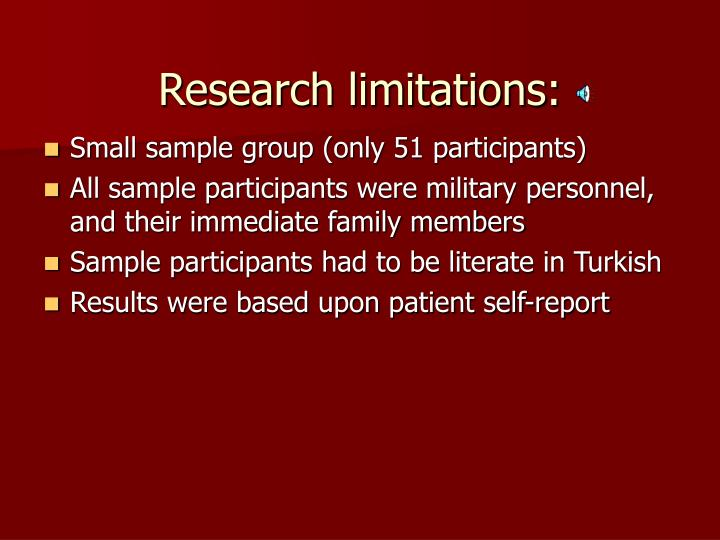 Research limitations: