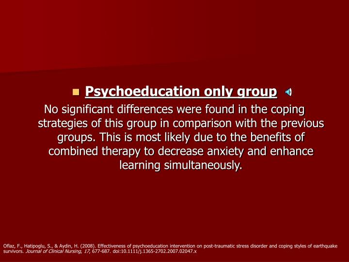 Psychoeducation only group