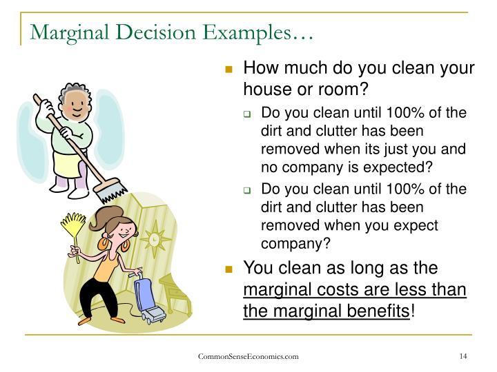Marginal Decision Examples…
