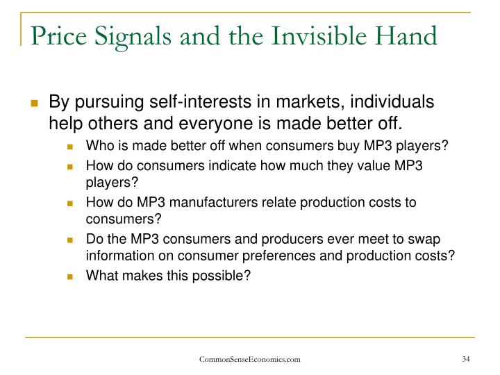 Price Signals and the Invisible Hand