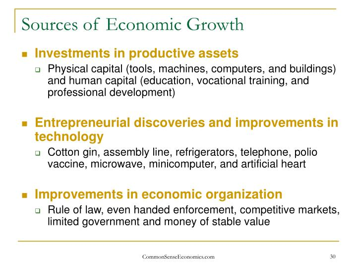 Sources of Economic Growth