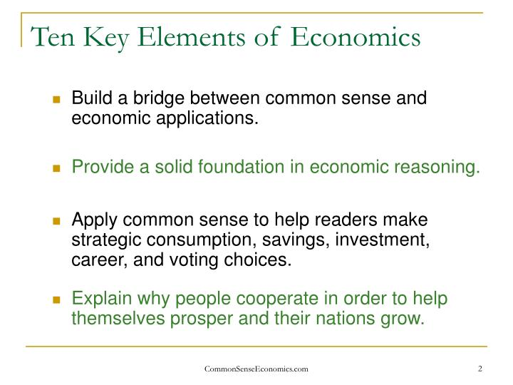 Ten key elements of economics