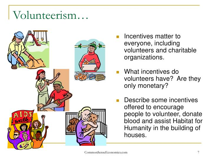 Volunteerism…