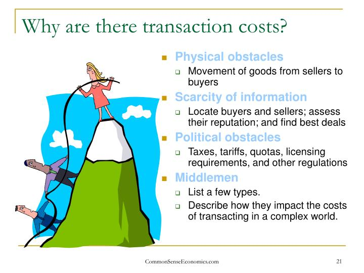 Why are there transaction costs?