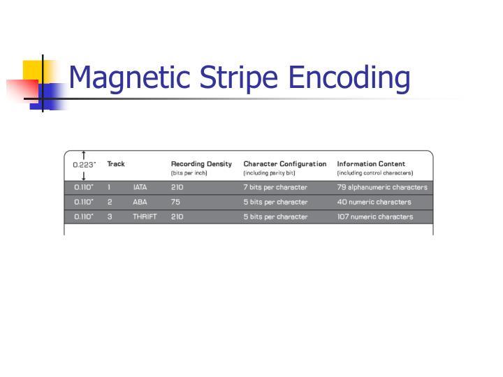 Magnetic Stripe Encoding