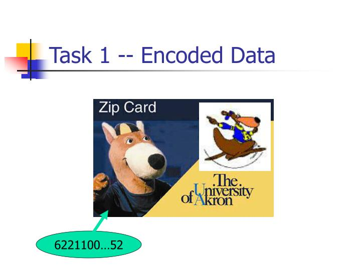 Task 1 -- Encoded Data