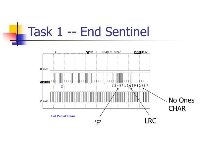 Task 1 -- End Sentinel