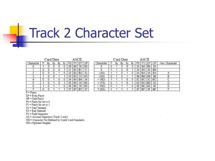 Track 2 Character Set