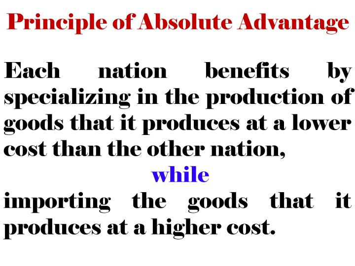 Principle of Absolute Advantage