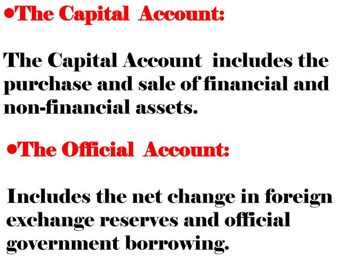 The Capital  Account: