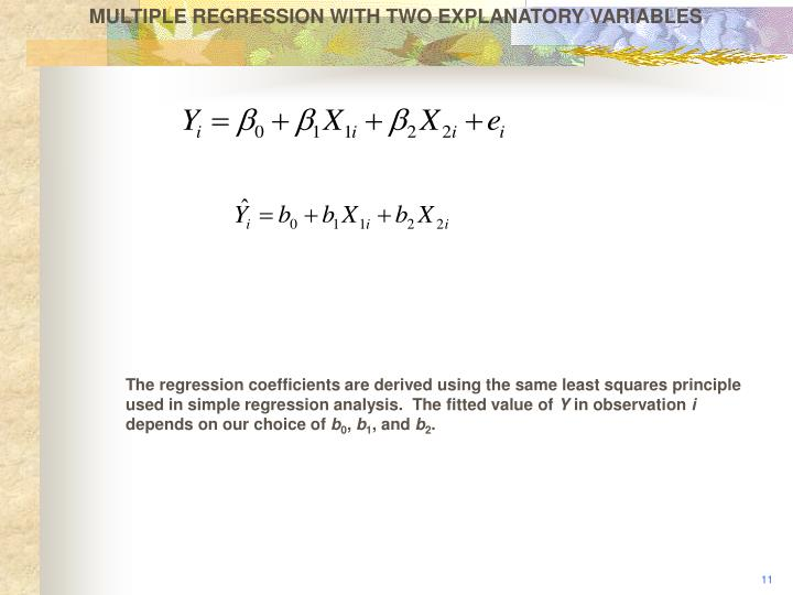 MULTIPLE REGRESSION WITH TWO EXPLANATORY VARIABLES