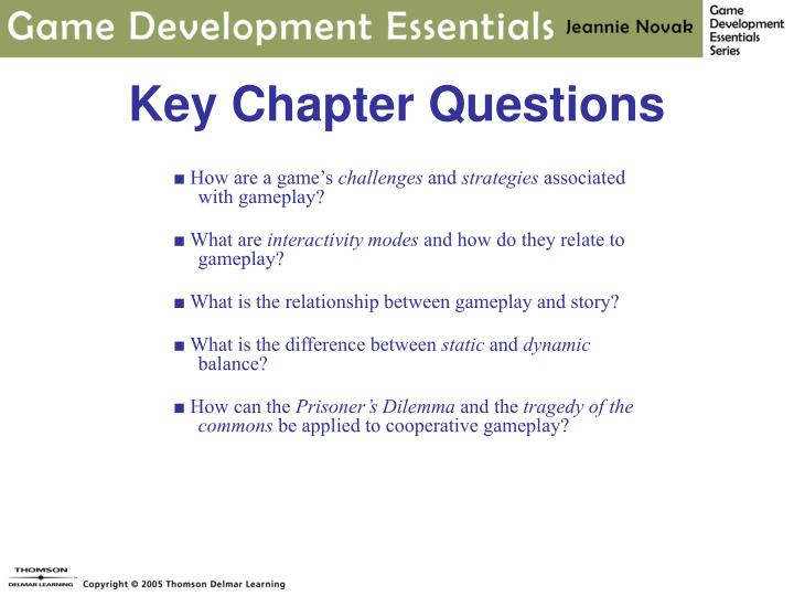 Key chapter questions