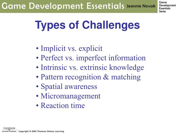 Types of Challenges