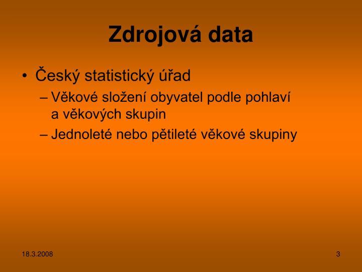 Zdrojová data