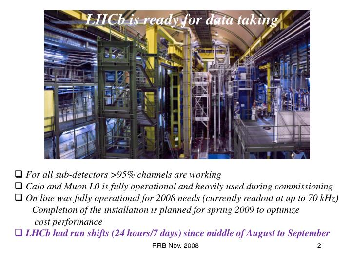 LHCb is ready for data taking