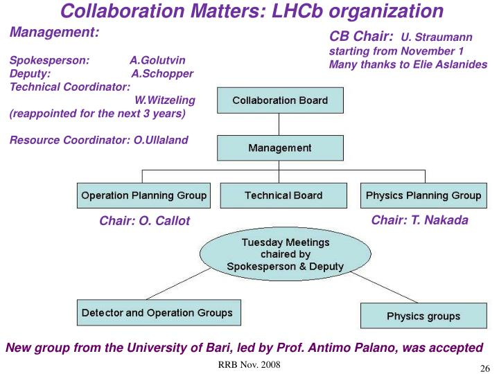 Collaboration Matters: LHCb organization