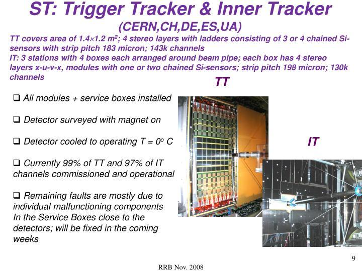 ST: Trigger Tracker & Inner Tracker