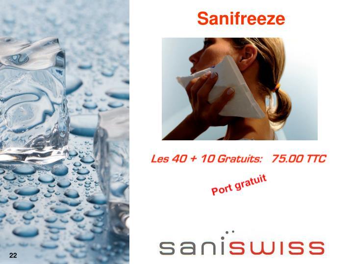 Sanifreeze