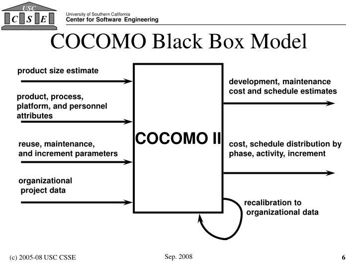 COCOMO Black Box Model