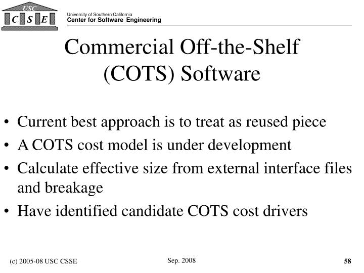 Commercial Off-the-Shelf (COTS) Software