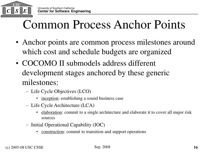 Common Process Anchor Points