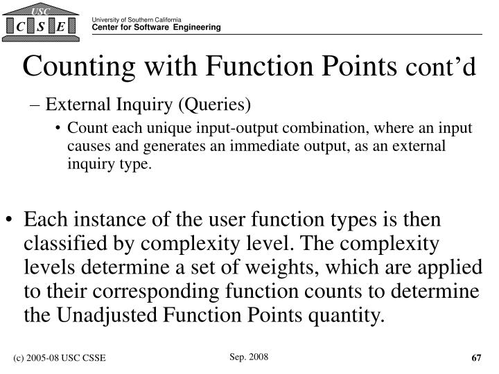 Counting with Function Points