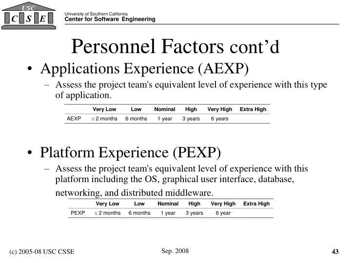 Personnel Factors