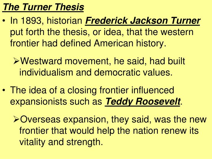 The Turner Thesis