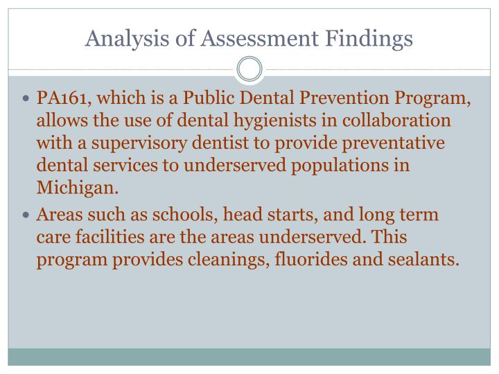 Analysis of Assessment Findings