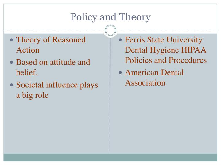 Policy and Theory