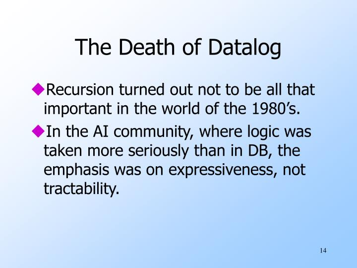 The Death of Datalog