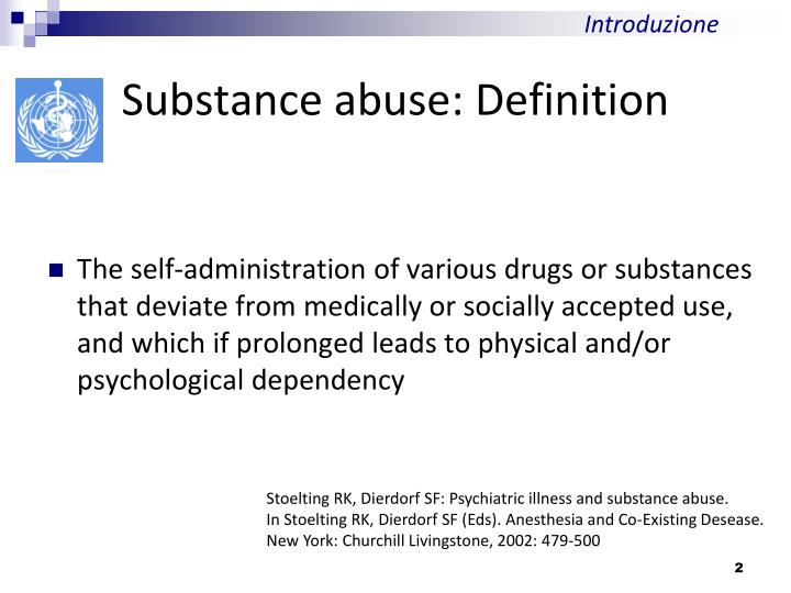 Substance abuse definition
