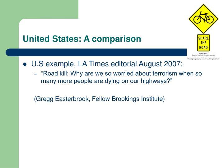 United States: A comparison