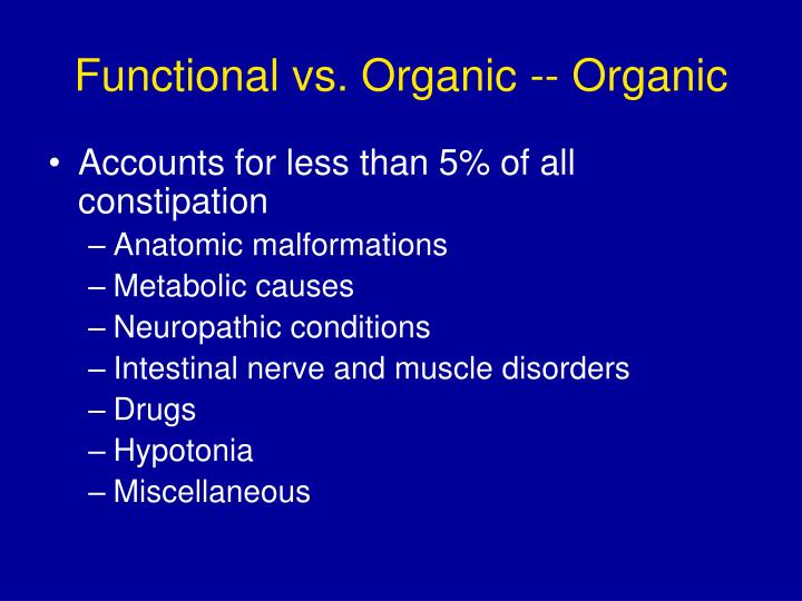 Functional vs. Organic -- Organic