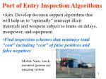 port of entry inspection algorithms1