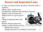 sensors and inspection lanes
