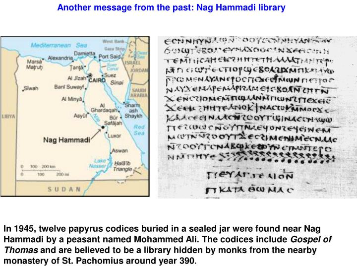 Another message from the past: Nag Hammadi library