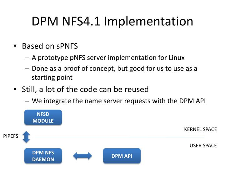 DPM NFS4.1 Implementation