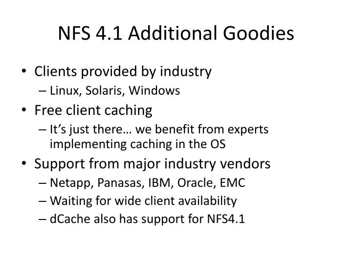NFS 4.1 Additional Goodies