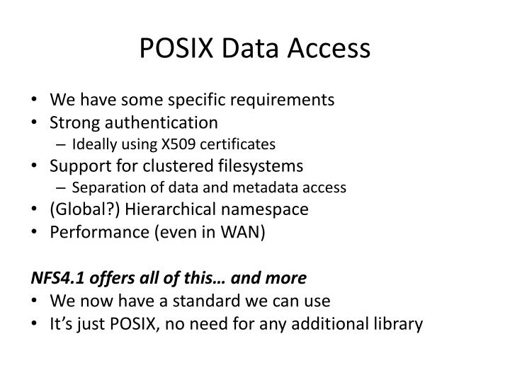 POSIX Data Access