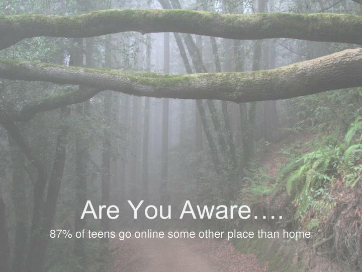 Are You Aware….