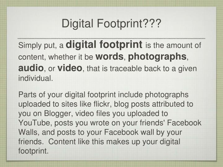 Digital Footprint???