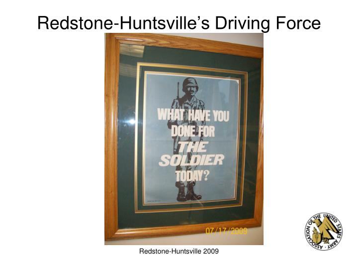 Redstone-Huntsville's Driving Force