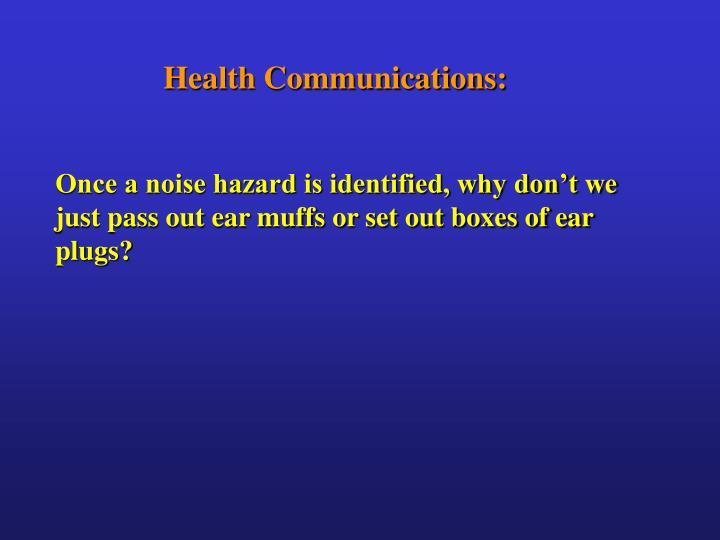 Health Communications: