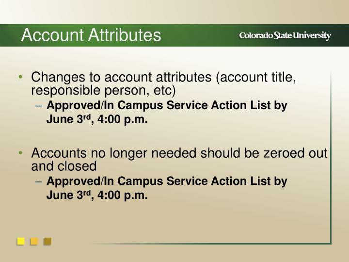 Account Attributes