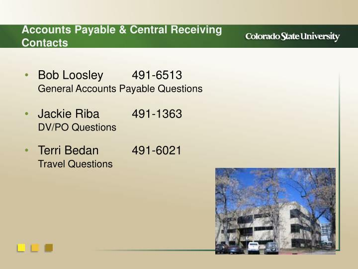 Accounts Payable & Central Receiving