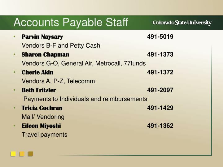 Accounts Payable Staff