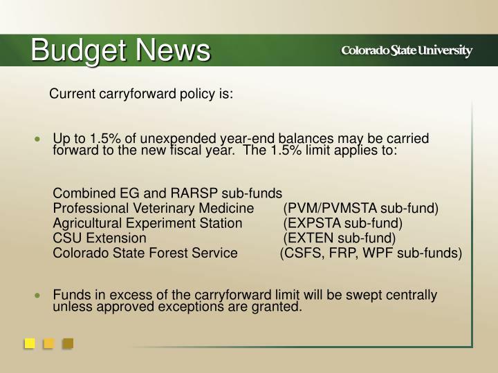 Budget News